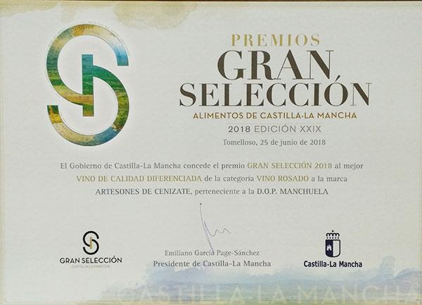 Premio Gran Selección Alimentos de Castilla la Mancha 2018 *Rosado*