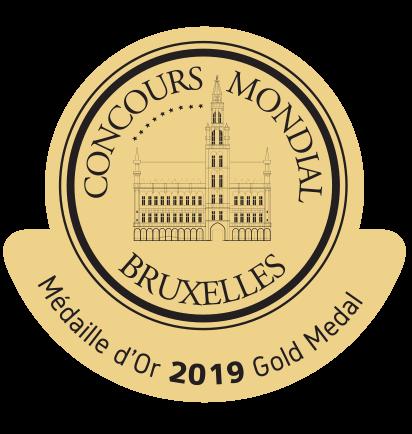 Medalla de Oro en el concurso Mundial de Bruselas 2019